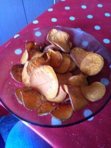 Édesburgonya batáta chips
